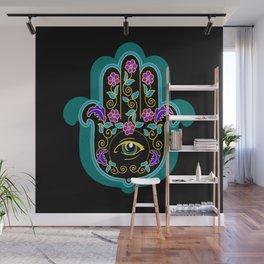Hamsa Powerful Spiritual Amulet Pattern Wall Mural