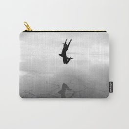 Abstract Beach | Jump for Joy Dramatic Black and White Happy Sunset Gray Bright Mood Carry-All Pouch