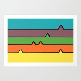 Colored Fields Art Print