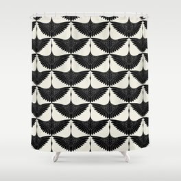 CRANE DESIGN - pattern - Black and White Shower Curtain