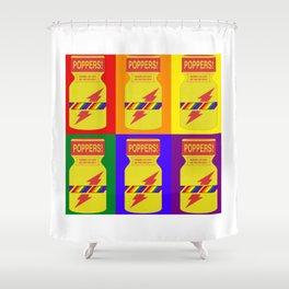 Rainbow poppers LGBT GAY PRIDE SEASON GIFT Shower Curtain
