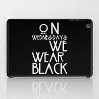 coven iPad Cases featuring On Wednesdays We Wear Black by Page394