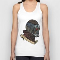 star lord Tank Tops featuring Star Lord Legendary Outlaw by Victoria Jennings