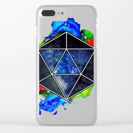 d20 Icosahedron of Imagination Clear iPhone Case