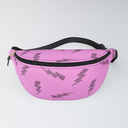 Pink Glitter Lightning Bolts in Pink Fanny Pack