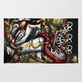 Shoe Poppin Royal Stain Rug