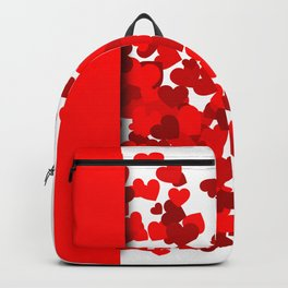 Hearts falling out of an envelope Backpack