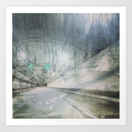 Tunnel to the Forest Art Print