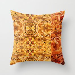 Abstract Chinese Noodle Throw Pillow