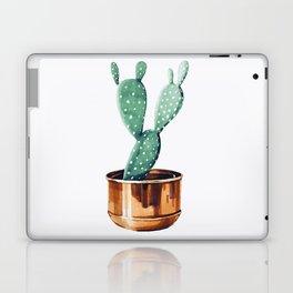 Potted Cactus Bronze Copper Laptop & iPad Skin
