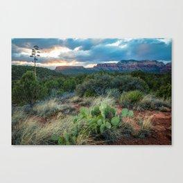 Southwest Serenade - Sunset at Sedona Arizona Canvas Print