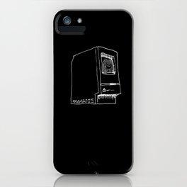 Macintosh on black iPhone Case