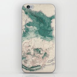 1883 USA Map of Density of Forests iPhone Skin