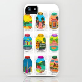 Travel with Colors iPhone Case