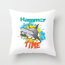 The great hammerhead shark Tee makes a great gift for shark lover Awesome Tee design It' Hammer Time Throw Pillow