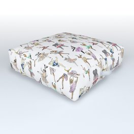 Animal Ballet Hipsters LV Outdoor Floor Cushion