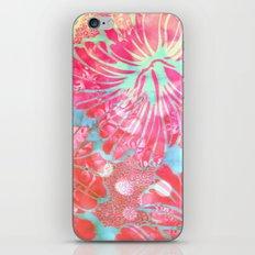 Blue Water Hibiscus Snowfall iPhone & iPod Skin