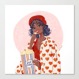 Pop-corn and heart jacket Canvas Print
