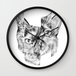 Kitty Split Wall Clock