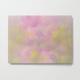Soft Pastel Feathered Abstract Metal Print