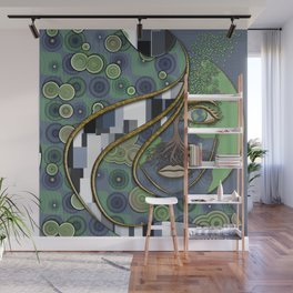 Face of Earth Wall Mural