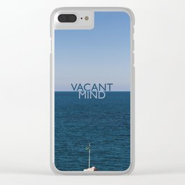 Vacant Mind on Vacation Clear iPhone Case