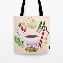 Dumpling Diagram Tote Bag