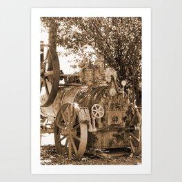 Davey, Payman & Co - Colchester England Sepia Art Print