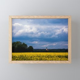 Concept nature : The yellow field Framed Mini Art Print