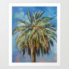 Canary Island Date Palm Art Print