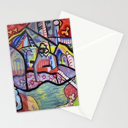 The Church at Auvers a la Mela Stationery Cards