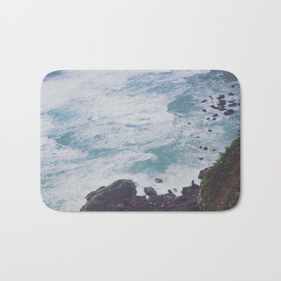 Blue Ocean - Seals on Rocks Bath Mat
