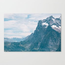 Swiss Alps - To The Valley Floor Canvas Print