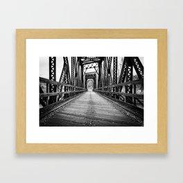 Old Train Bridge Bath, NH Framed Art Print
