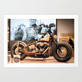 HD motorcycle Art Print