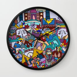 Hello-Goodbye-Peace Wall Clock