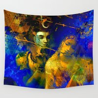 shiva Wall Tapestries featuring Shiva The Auspicious One - The Hindu God by sarvesh