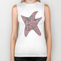 starfish Biker Tanks featuring Starfish by Planet Hinterland