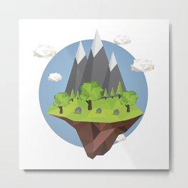 Mountains World Metal Print