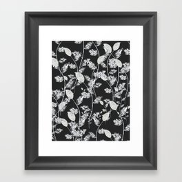 white leaf pattern Framed Art Print