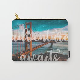 ADVENTURE AWAITS San Francisco Carry-All Pouch