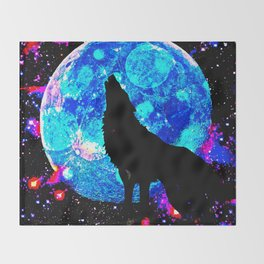 Wolf #1 Throw Blanket