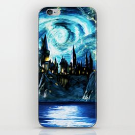 Starry Night Hogwarts iPhone Skin
