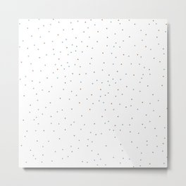 Connected stars only stars green and camel on white Metal Print