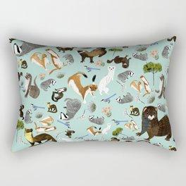 Mustelids from Spain pattern Rectangular Pillow