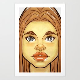 Jayneys Daughter Art Print