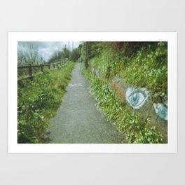 Curious road, Brest, France Art Print