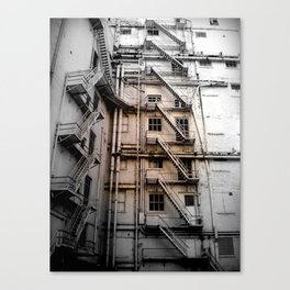 The stair venture Canvas Print