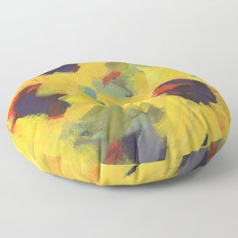 Sage and Sunflowers Floor Pillow