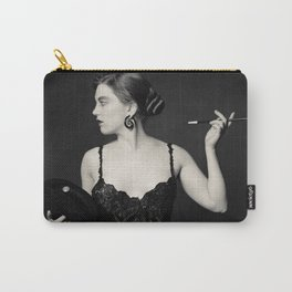 """""""A Noir Night Out"""" - The Playful Pinup - Modern Gothic Twist on Pinup by Maxwell H. Johnson Carry-All Pouch"""
